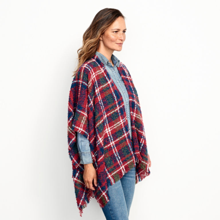 Bouclé Plaid Ruana -  image number 1