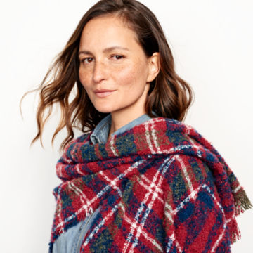 Bouclé Plaid Ruana -  image number 3
