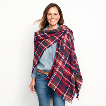 Bouclé Plaid Ruana -  image number 4