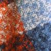 Bouclé Plaid Scarf - BLUE PLAID
