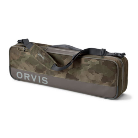 camouflage colored carry-all bag on a white background