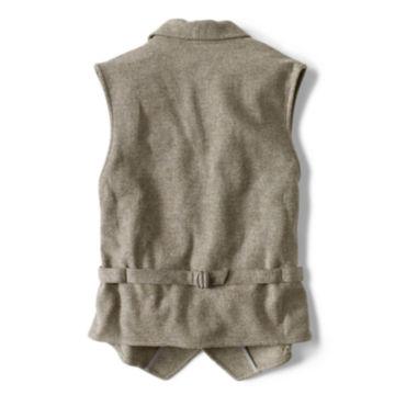 Washed Wool Shawl Collar Vest - LIGHT OLIVE image number 1