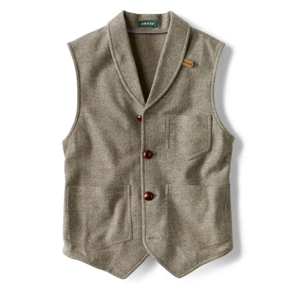 Washed Wool Shawl Collar Vest - LIGHT OLIVEimage number 0