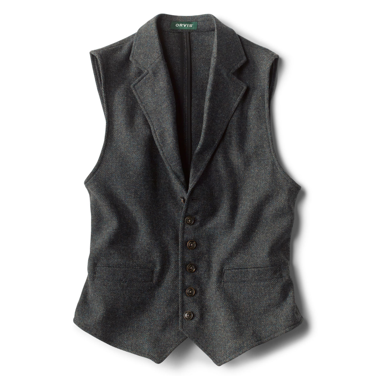 Casual Wool Unconstructed Vest - CHARCOALimage number 0