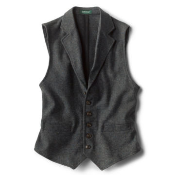 Casual Wool Unconstructed Vest - CHARCOAL image number 0