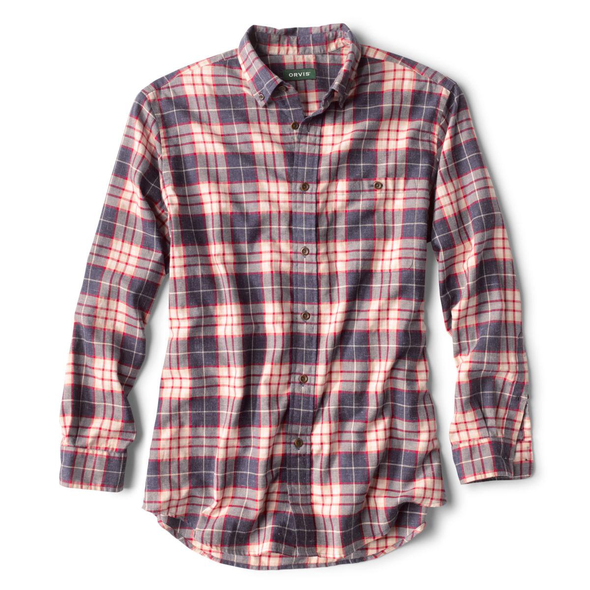 Slub Long-Sleeved Plaid Shirt - image number 0