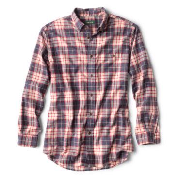 Slub Long-Sleeved Plaid Shirt -