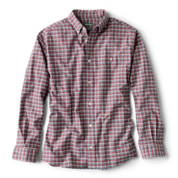 Stretch Oxford Long-Sleeved Knit Shirt -