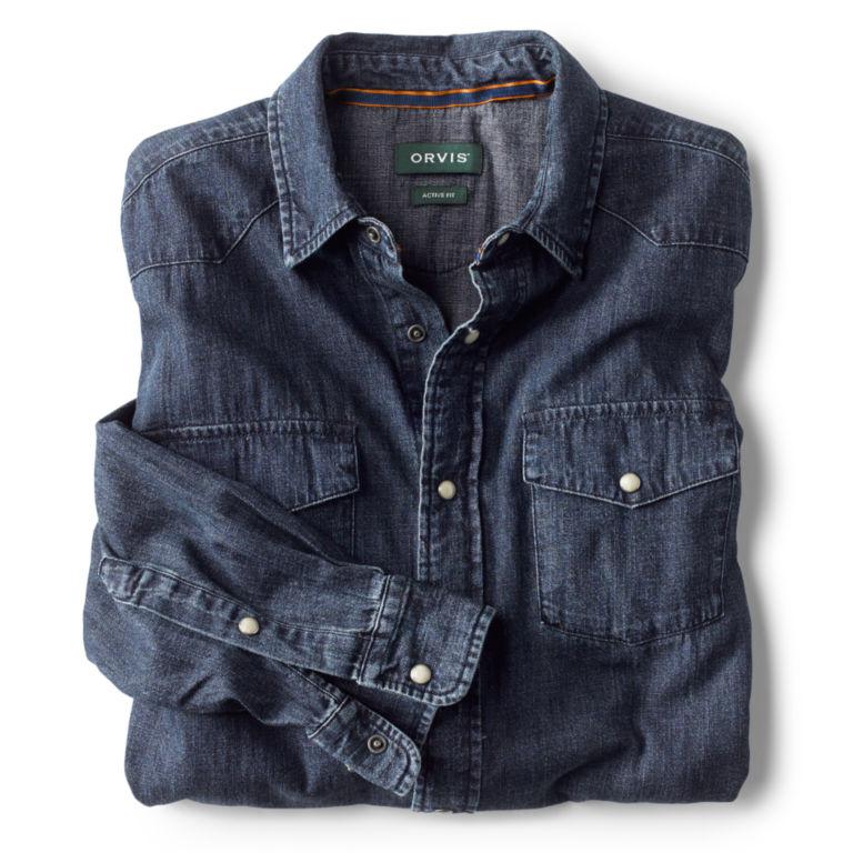 Great Bend Washed Indigo Shirt - DARK INDIGO image number 1