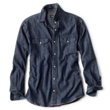 Great Bend Washed Indigo Shirt - DARK INDIGO image number 0