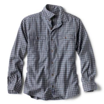 Mélange Indigo Plaid Long-Sleeved Shirt -