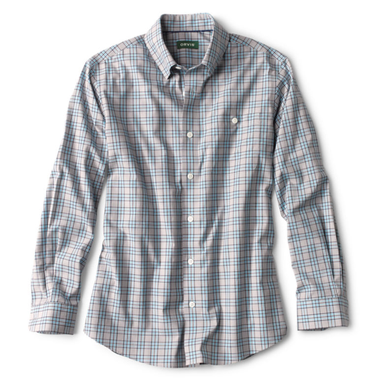 Hidden Button-Down Wrinkle-Free Comfort Stretch Shirt - Regular -  image number 0