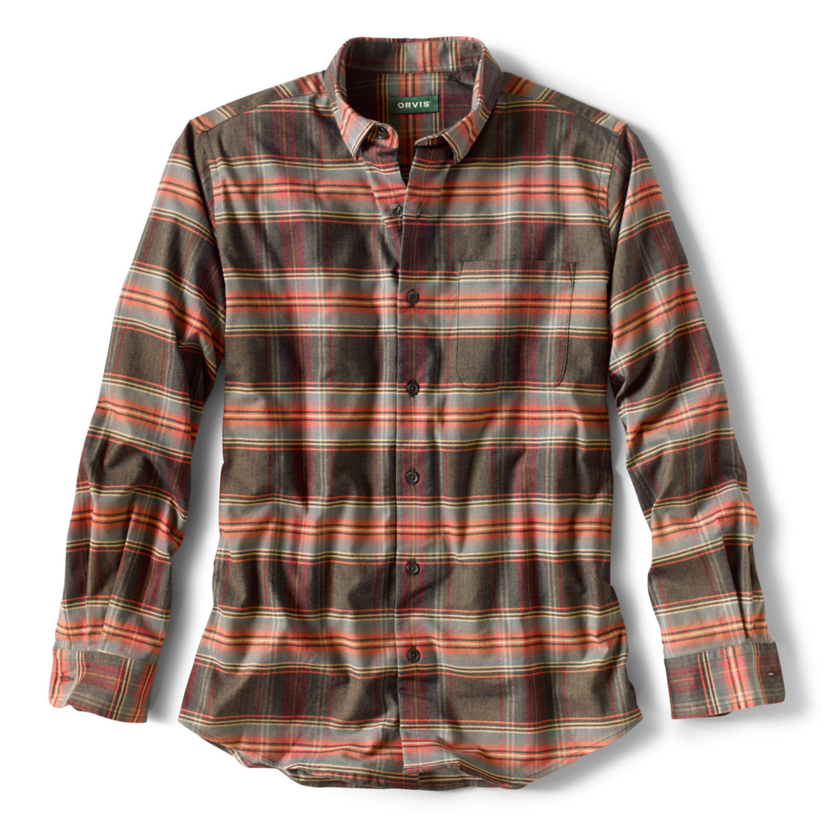 Cotton/Merino Performance Long-Sleeved Shirt - Regular - image number 0