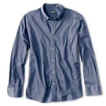 Wrinkle-Free Piqué Knit Button-Down Shirt -  image number 0