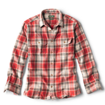 Ketti Steep Twill Long-Sleeved Shirt - WEATHERED RED image number 0