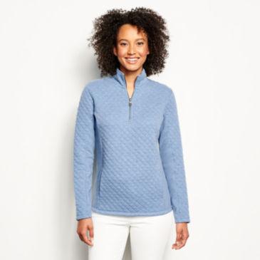 Placed Quilted Quarter-Zip Sweatshirt -