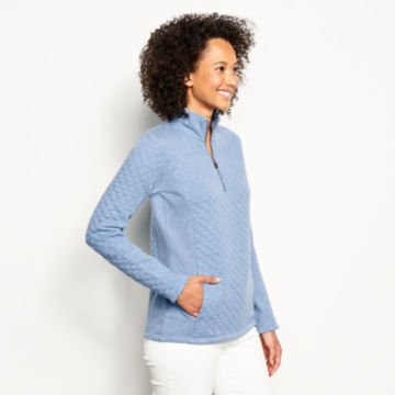 Placed Quilted Quarter-Zip Sweatshirt -  image number 1