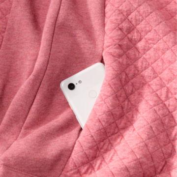 Placed Quilted Quarter-Zip Sweatshirt -  image number 3
