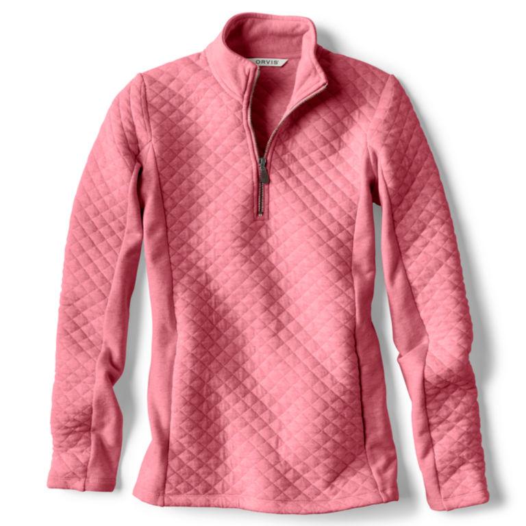 Placed Quilted Quarter-Zip Sweatshirt -  image number 4
