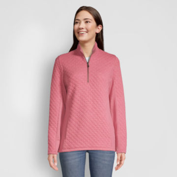 Placed Quilted Quarter-Zip Sweatshirt -  image number 0