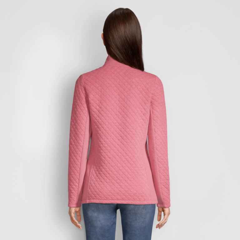 Placed Quilted Quarter-Zip Sweatshirt -  image number 2