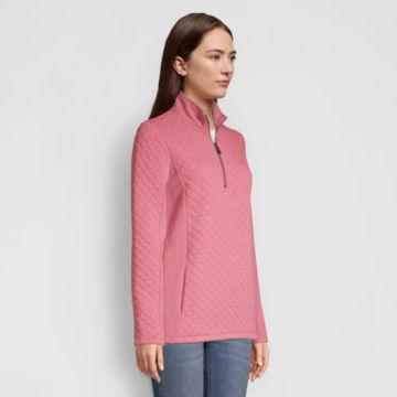 Placed Quilted Quarter-Zip Sweatshirt -  image number 1