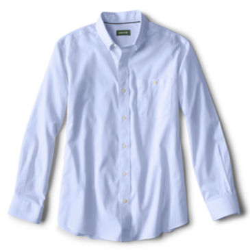Solid Pinpoint Wrinkle-Free Comfort Stretch Long-Sleeved Shirt -
