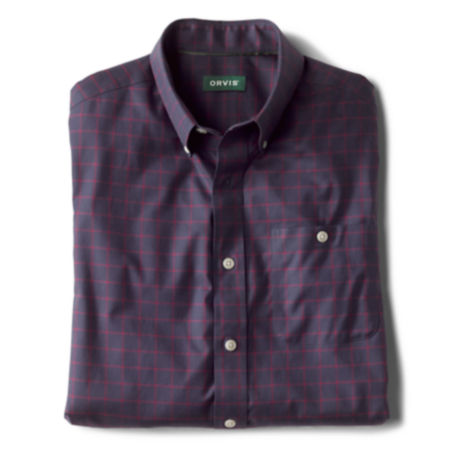 Wrinkle-Free Cotton Stretch Long-Sleeved Shirt