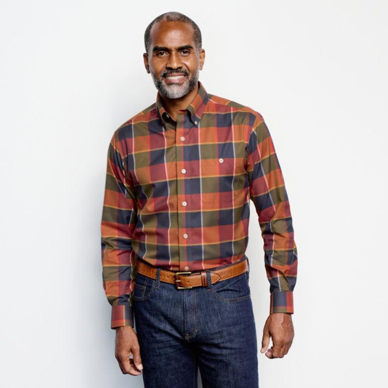 Wrinkle-Free Stretch Long-Sleeved Shirt - Regular -  image number 2