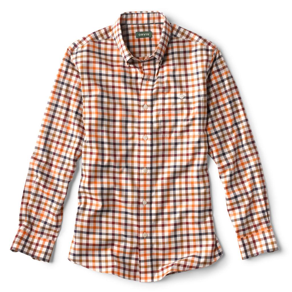 Men's Wrinkle-Free Shirt in Red-Multi.