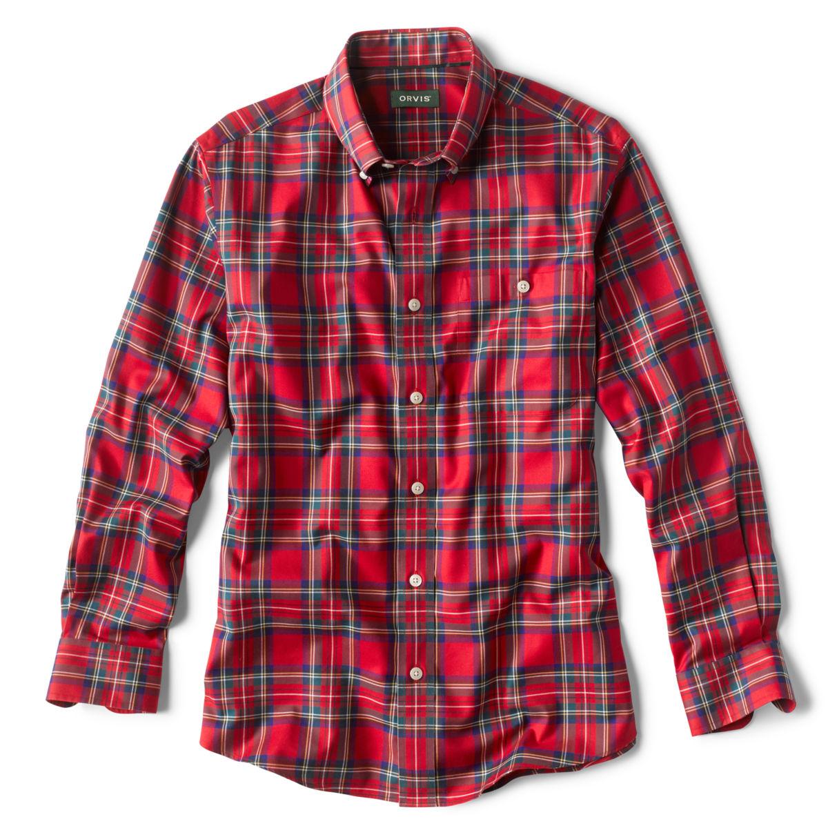 Tartan Wrinkle-Free Comfort Stretch Long-Sleeved Shirt - ROYAL STEWARTimage number 0