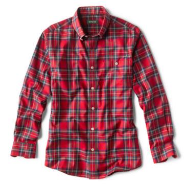 Tartan Wrinkle-Free Comfort Stretch Long-Sleeved Shirt - ROYAL STEWART image number 0