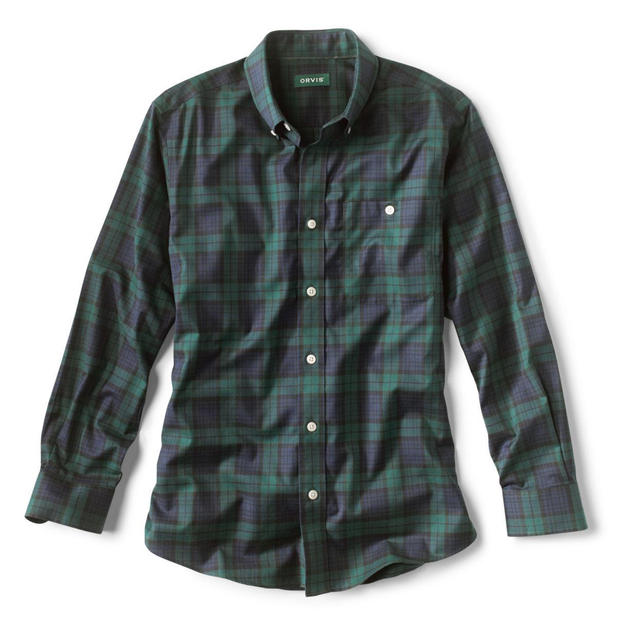 Tartan Wrinkle-Free Comfort Stretch Long-Sleeved Shirt - image number 0