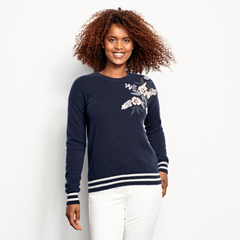 Cashmere Embroidered Sweater -  image number 0