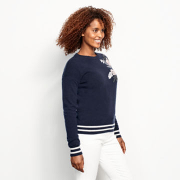 Cashmere Embroidered Sweater -  image number 1