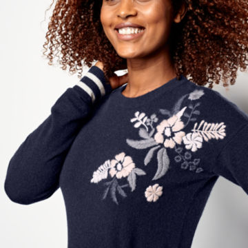 Cashmere Embroidered Sweater -  image number 3