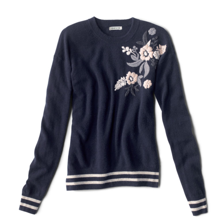 Cashmere Embroidered Sweater -  image number 4