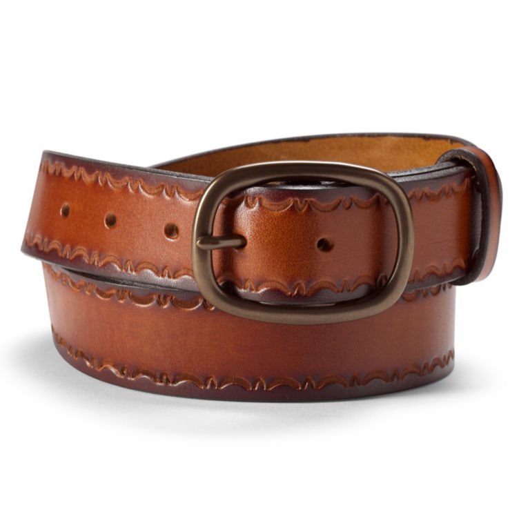 Embossed Leather Belt -  image number 0