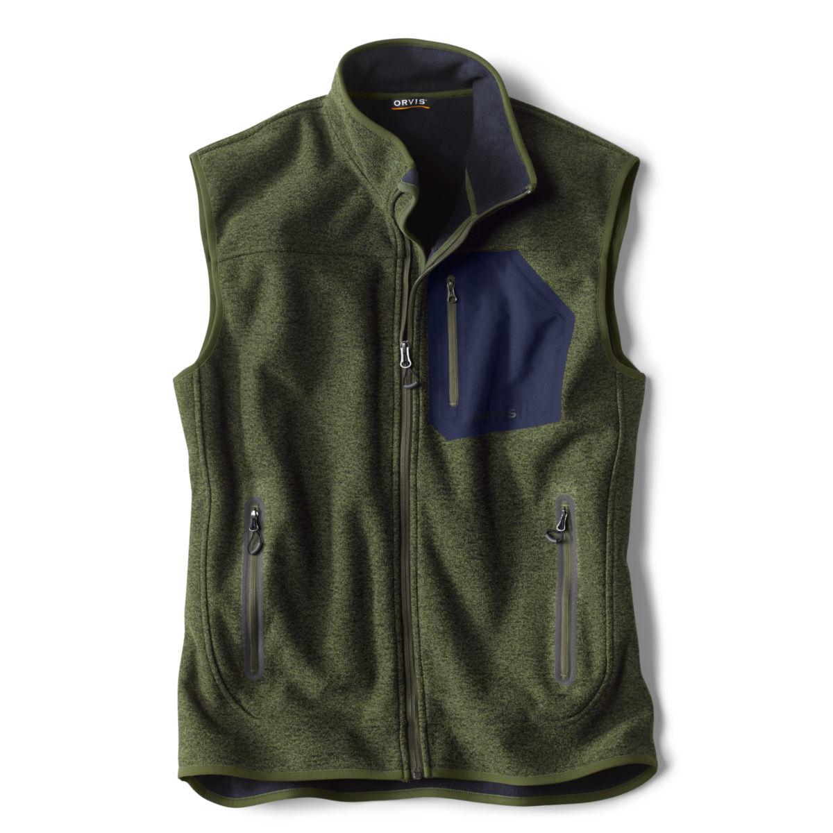 Windproof Sweater Fleece Vest - RIFLE GREENimage number 0