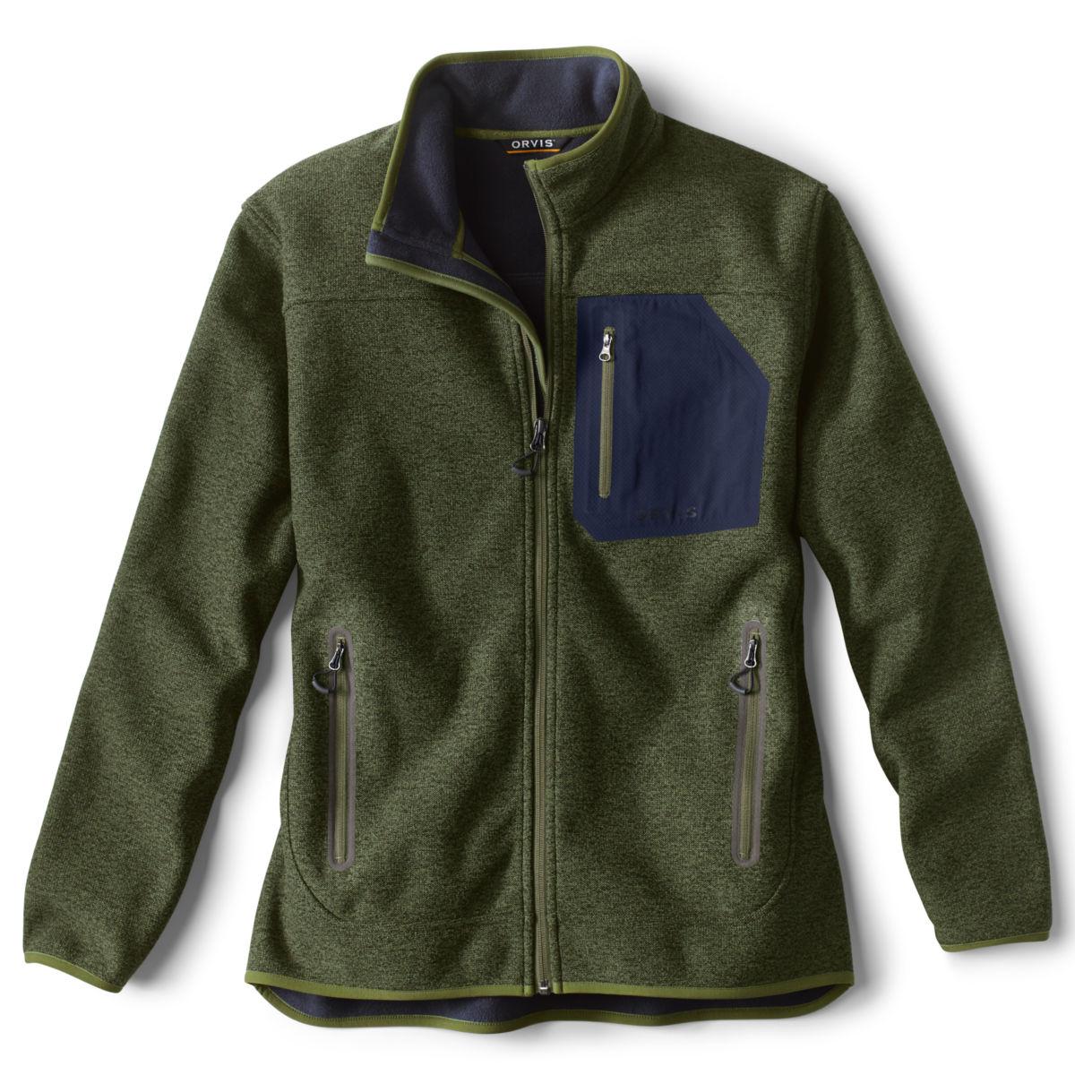 Windproof Sweater Fleece Jacket - RIFLE GREENimage number 0