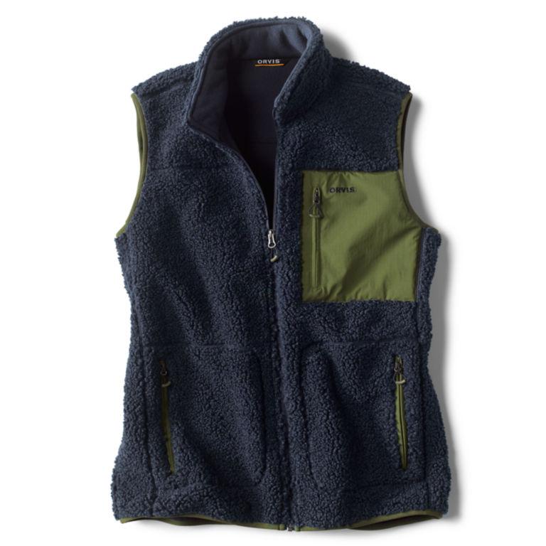 Sherpa Fleece Vest - NAVY image number 0