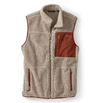 Sherpa Fleece Vest - NATURAL/HENNA image number 0