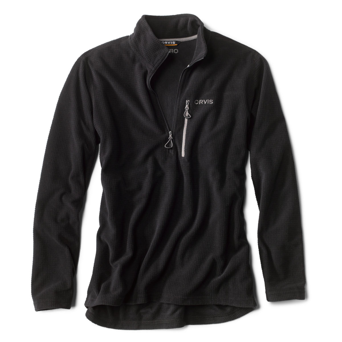 Grid Quarter-Zip Fleece - BLACKimage number 0