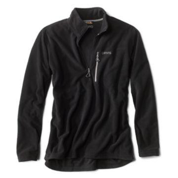 Grid Quarter-Zip Fleece - BLACK image number 0