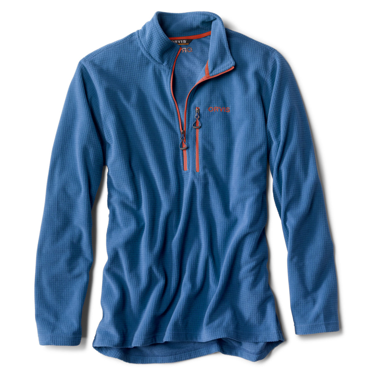 Grid Quarter-Zip Fleece - FRENCH BLUEimage number 0
