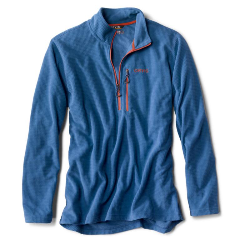 Grid Quarter-Zip Fleece - FRENCH BLUE image number 0