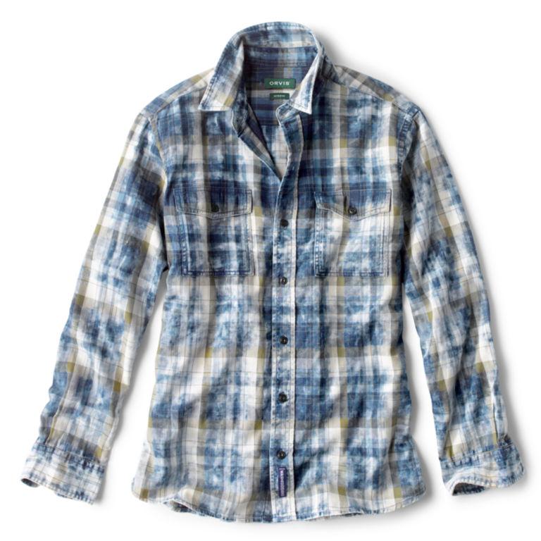 Washed Plaid Long-Sleeved Shirt -  image number 0