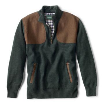 Foul-Weather Quarter-Zip Pullover - DARK PINE image number 0