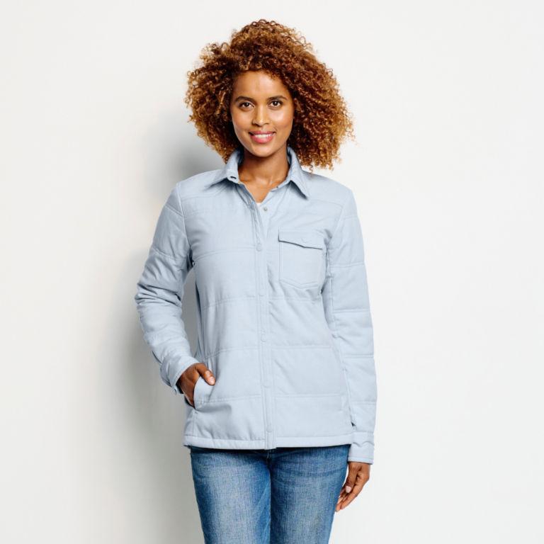 Women's Tech Chambray Shirt Jacket - BLUE FOG image number 1