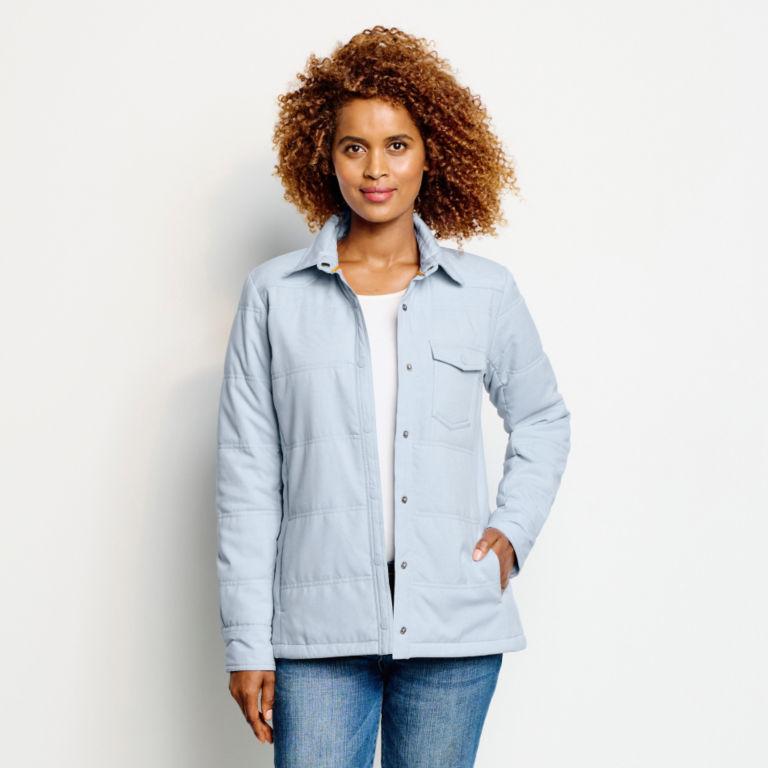Women's Tech Chambray Shirt Jacket - BLUE FOG image number 4